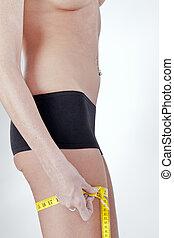Model Measuring Buttocks