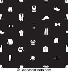 model, mens, kleding, eps10, pictogram