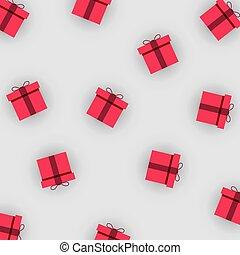 model, met, kleurrijke, cadeau, boxes., papier, kado, boxes., kerstmis, jaarwisseling, of, jarig, concept.