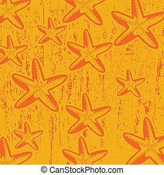 model, met, ster, visje, op, sinaasappel