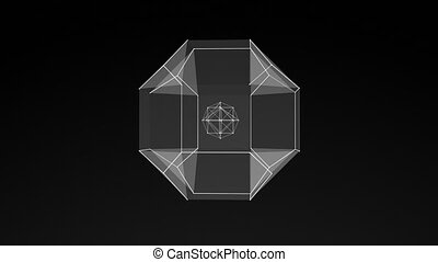 model of 3D figure, abstract geometric composition from...