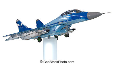 Model of a Mig-35 - Model of the Russian fighter Mig-35 at...