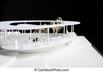 Model of a modern building
