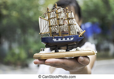 Model of a sailing ship