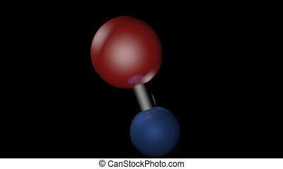 Model of a water h20 molecule - Three dimensional model of a...