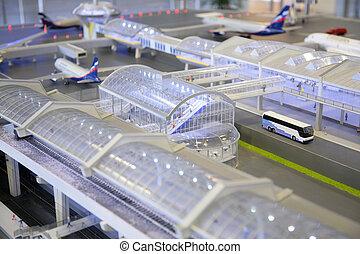 Model of airport