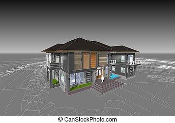 asian contemporary house