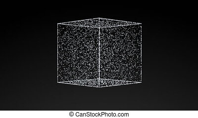 model of cube, abstract geometric composition