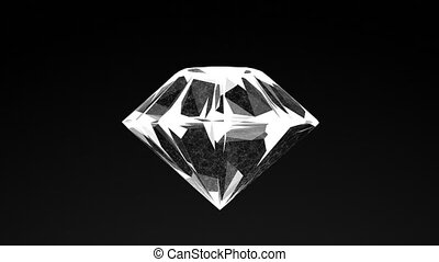 model of diamond, abstract geometric composition