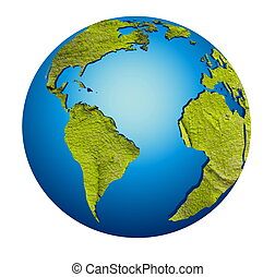 model of Earth globe
