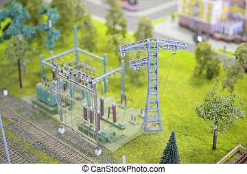 Model of electric substation