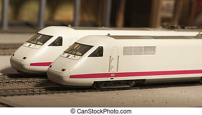 model of intercity train