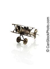 metallic airplane - model of metallic airplane