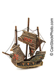model of old ship