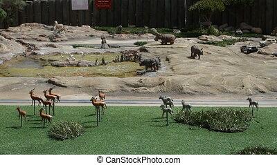 Model of safari in Mini Israel