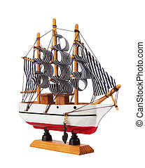 Model of sailing ship