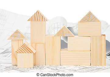 Model of the wooden house on the project