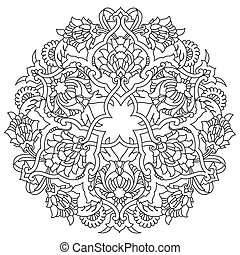 model, ottoman, lijnen, artistiek, seri