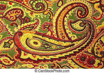 model, paisley, zijden fabric, achtergrond