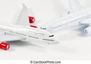 Model passenger aircraft