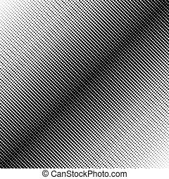 model, punten, halftone, diagonaal