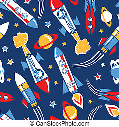 model, raketten, seamless, ruimte