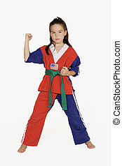 Martial Arts - Model Release #287 Seven year old practicing ...