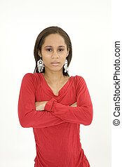 African American - Model Release 379 Portrait of beautiful...