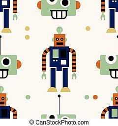 model, robot, seamless