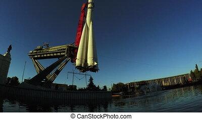 Model rocket Vostok at VDNH