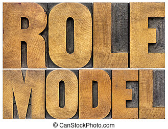 model, rol, typografie
