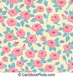 model, roses., seamless