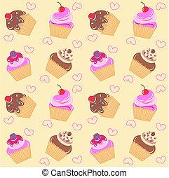model, seamless, cupcake