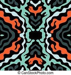 model, seamless, illustratie, helder, vector, graffiti, psychedelic