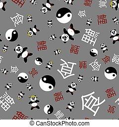 model, seamless, panda