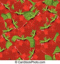 model, seamless, strawberries., fris
