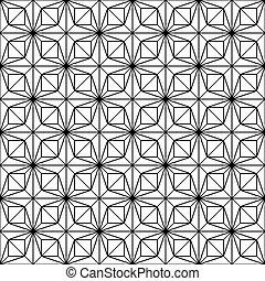 model, -, seamless, vector, zwarte achtergrond, witte lijnen