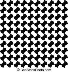 model, seamless, zwarte achtergrond, witte , geometrisch