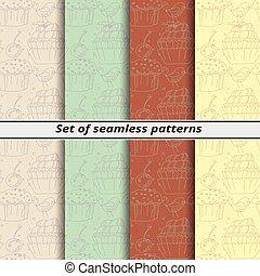 model, set, lineair, seamless