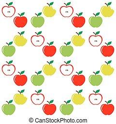 model, set, seamless, appeltjes
