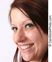 Model smiling at you