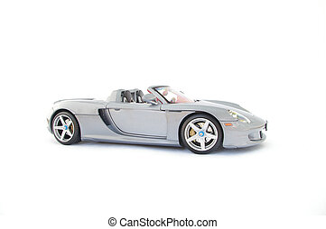 Model Sports Car - Model sports car isolated against white ...