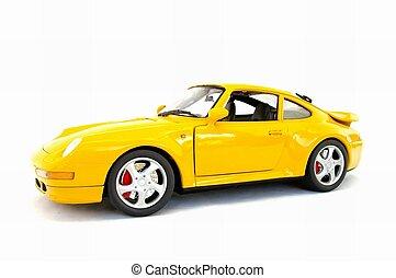 Yellow model sports car