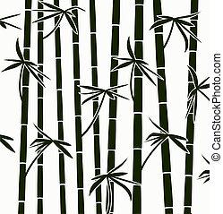 model, spruiten, achtergrond, vector, bamboe