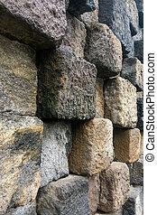 model, steentextuur, achtergrond