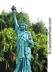 Model, the goddess of peace in Thailand.