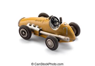 Model toy vintage racing car