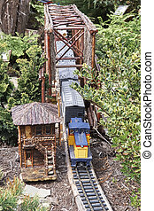 Model Trains - Model Railroad display. Scale replicas of...