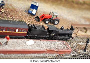 Model Trains - Model trains and station