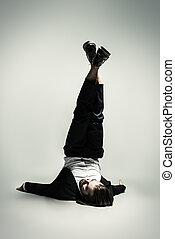 model upside down